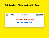 Airline Flight Availability Cards