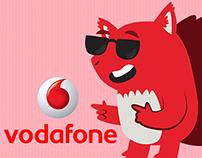 Vodafone Squirrel Stickers