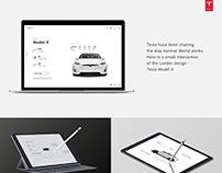 Tesla - Model X lander design & Interaction Design