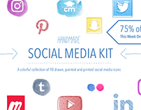 Handmade Social Media Kit
