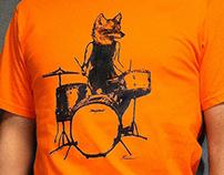 Fox Drummer Graphic Tee