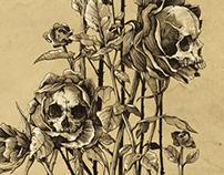 pollution - skull roses