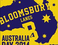Bloomsbury Lanes Australia Day 2014