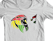 Grunge Reggae Music Colors Lion T shirt and Prints