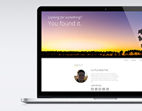One-page Webdesign