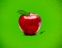pintura digital maçã, apple digital paint