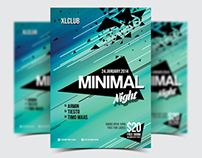 Minimal Night Party Flyer/Poster - 07