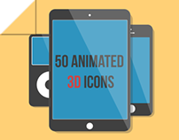 50 Animated 3D Icons