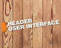 Header User Interface