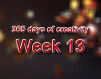 365 days of creativity/art - Week 13