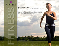 Athleta Women's Fitness Clothing Store Advertisements