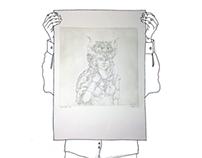 SHIELDMAIDEN (etching print)