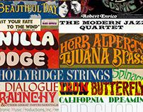 A Study: Album Cover Typography & Artwork: 1960s