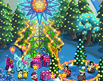 Hollybright Tree - FarmVille Holiday Lights Feature