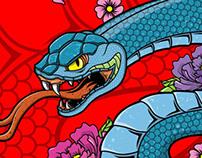 Snake BJJ Rashguard