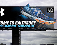 Art Direction Under Armour Running Shoe Ad Creative
