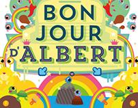 Birth announcement card for Albert
