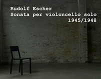 Rudolf Escher: Sonata per violoncello solo - played by