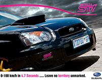 Subaru Double Spread Advert