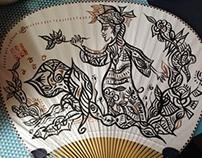 a paper fan