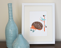 SEA URCHIN STUDIO | Forest Animal Print Set