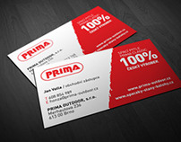business card PRIMA OUTDOOR
