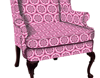 Power Pink pattern for chair