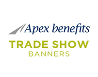 Apex Benefits Trade Show Banners