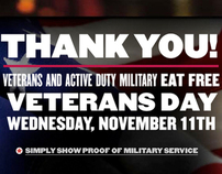 Applebee's Veteran's Day Promotion