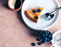 FOOD: Lemon cake with blueberries