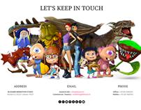 Blissard Animation - Web Layout Design