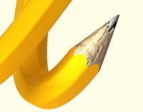 Pencil typography