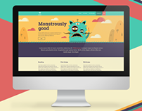 Monstrously freaky web design
