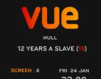 Vue Movie Ticket