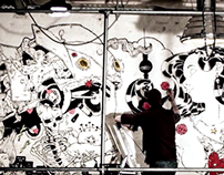 The Muse. Time-lapse mural at EsdipBerlin