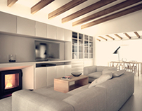 DINING ROOM & KITCHEN / INTERIOR AND 3D