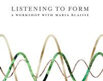Listening to Form/  DAE 2007/ Workshop booklet