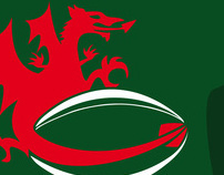 "Logo for ""Rugby Tour Dinas Powys, Perugia 2011"" ; Wales"