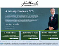 John Hancock Investments micro-site redesign (Spec)