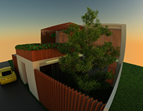 Exterior 3D Visualization of a House