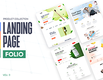 Products Landing Page Folio - Vol 3