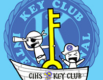 ChanneI Islands Key Club T Shirt 2009-2010