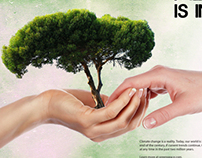 GreenPeace Recycling Magazine Spread Advertisement