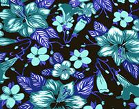 Floral Textile Design Gouache