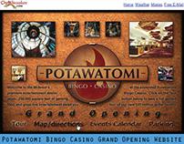 Potawatomi Bingo Casino Grand Opening promo website