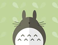 Totoro Minimal Poster