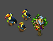 Toucan and Birdhouse for Oasis: the last hope game