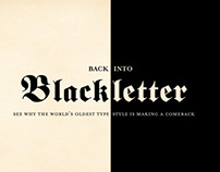 Back Into Blackletter Typography Catalog