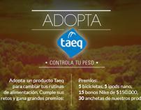 Adopta Taeq // Facebook app