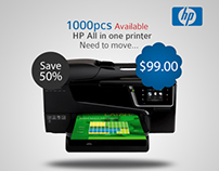 1000pcs Available HP All in one printer  Web banner